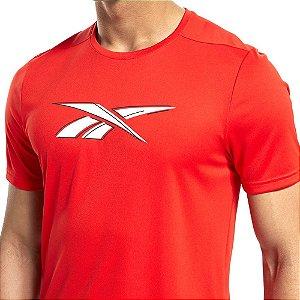 Camiseta Reebok Wor Poly Graphic Ss Vermelho Masculino