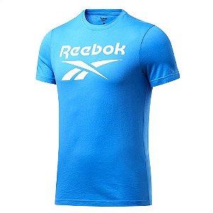 Camiseta Reebok Big Logo Azul Masculino