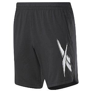 Shorts Reebok Wor Woven Graphic Lateral Preto Masculino