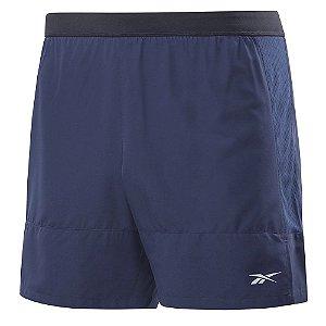 Shorts Reebok Run Refletivo 12cm Azul Marinho Masculino