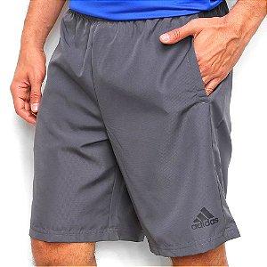 Shorts Adidas Color Block Cinza Escuro Masculino