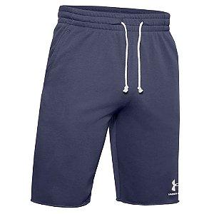 Shorts Under Armour Sportstyle Terry Azul Marinho Masculino