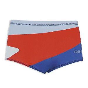 Sunga Speedo Boomerang Azul/Vermelho/Azul Claro Masculino