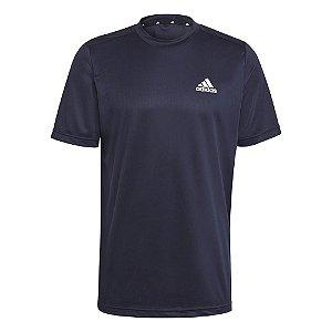 Camiseta Adidas D2m Plain Legend Azul Marinho Masculino