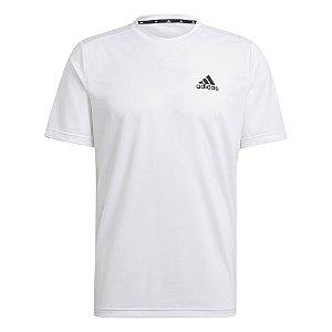 Camiseta Adidas D2m Plain Branco Masculino