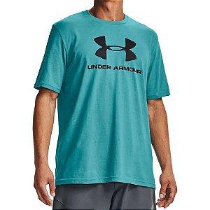 Camiseta Under Armour Sportstyle Logo Ss Azul Masculino