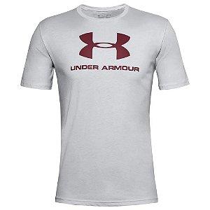Camiseta Under Armour Sportstyle Logo Ss Cinza Claro Masculino