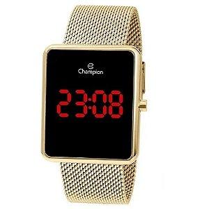 Relógio Champion Feminino Led Dourado CH40080V