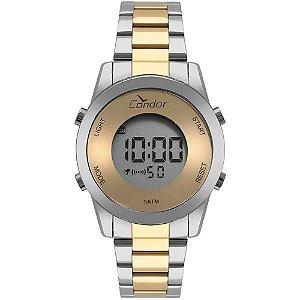 Relógio Condor Feminino Bicolor Prata Digital COBJ3279AC5D