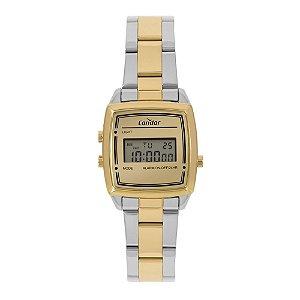 Relógio Condor Feminino Bicolor Prata Digital COJH512AAK5D