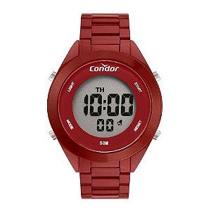 Relógio Condor Feminino Full Colors Vermelho Digital COAE19432AK4R