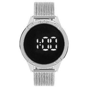 Relógio Euro Feminino Fashion Fit Prata Digital EUBJ3912AD4F