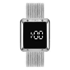 Relógio Euro Feminino Fashion Fit Prata Digital EUBJ3937AD4F