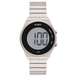 Relógio Euro Feminino Meu Tom Prata Digital EUBJT016AG4C