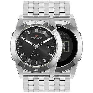 Relógio Technos Masculino Curvas Prata AnaDigital 1S13CS1P