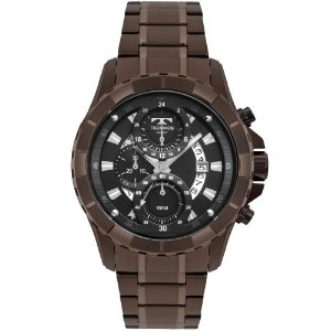 Relógio Technos Masculino Legacy Marrom Cronógrafo JS15FN4P