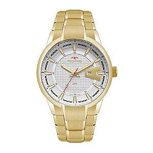 Relógio Technos Masculino Racer Dourado Analógico 2117LAX4B