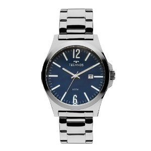 Relógio Technos Masculino Steel Prata Analógico 2115LAY1A