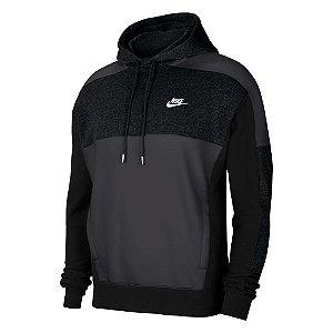 Moletom Nike Hoodie Po Bb Cb Cinza Masculino