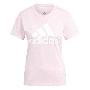 Camiseta Adidas Logo Essentials Rosa Feminino