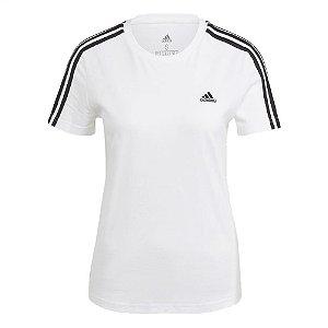 Camiseta Adidas 3s Branco Feminino