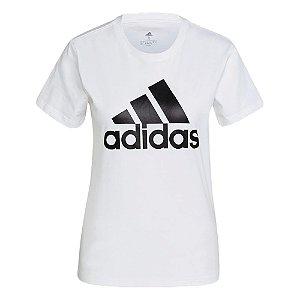 Camiseta Adidas Logo Branco Feminino