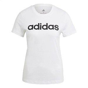 Camiseta Adidas Logo Linear Branco Feminino