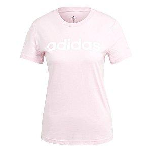 Camiseta Adidas Essentials Linear Rosa Feminino