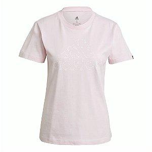 Camiseta Adidas Estampada Floral Rosa Feminino
