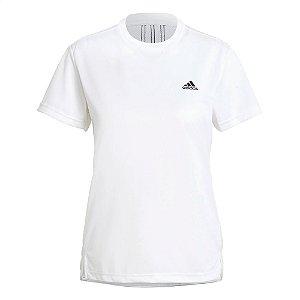 Camiseta Adidas Essentials 3s Branco Feminino