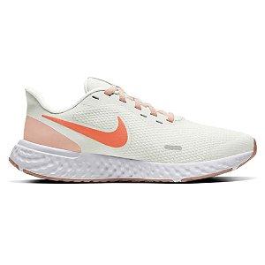 Tenis Nike Revolution 5 Branco/Coral Feminino