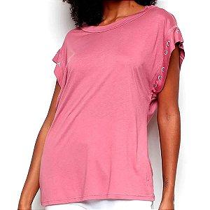 Camiseta Colcci Comfort Rosa Feminino