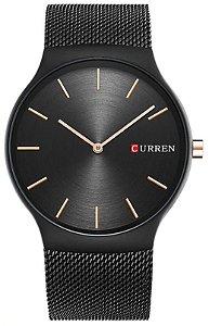 Relógio Slim Curren 8256 Preto