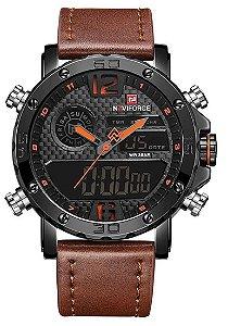 Relógio Naviforce NF9134BO Pulseira de Couro Marrom