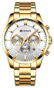 Relógio Curren 8358 Dourado