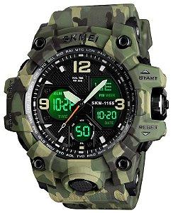 Relógio Skmei 1155 Verde Camuflado