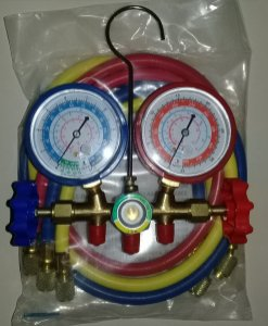 Conjunto Manifold Refrigeração para Gases R-22 / R-12 / R404A / R-134a