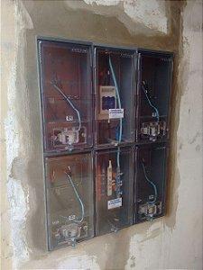 Padrão de Energia para 4 medidores Bifásicos B1 / em policarbonato / CPFL