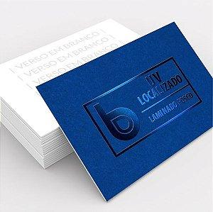 Cartão de Visita Couchê 250g Lam. Fosca + UV Local 9x5