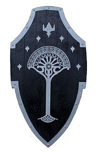 Escudo Soldados de Gondor Senhor dos Anéis (Réplica de Madeira)