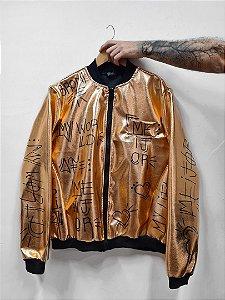 Jaqueta Metalizada Grafitti Bronze
