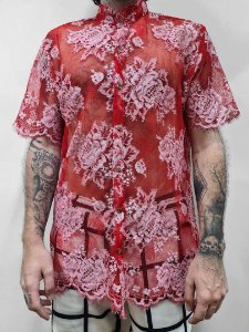 Camisa Renda Vermelha