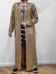Kimono Paetê Gold