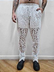 Calça Gótica Branca