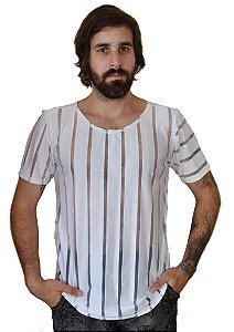 Camiseta Listras Branco