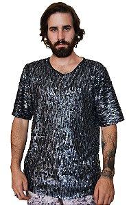 Camiseta Paetê Círculos