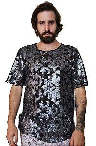 Camiseta Paetê Renda