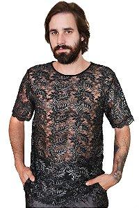 Camiseta Renda Preta