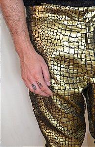 Calça Escama Dourada