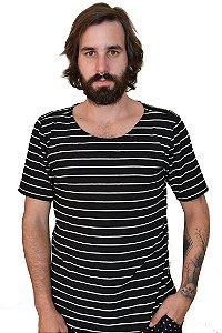 Camiseta Listras Malha